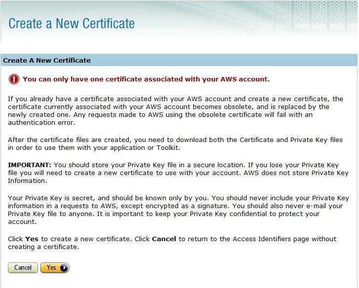 createCertificate